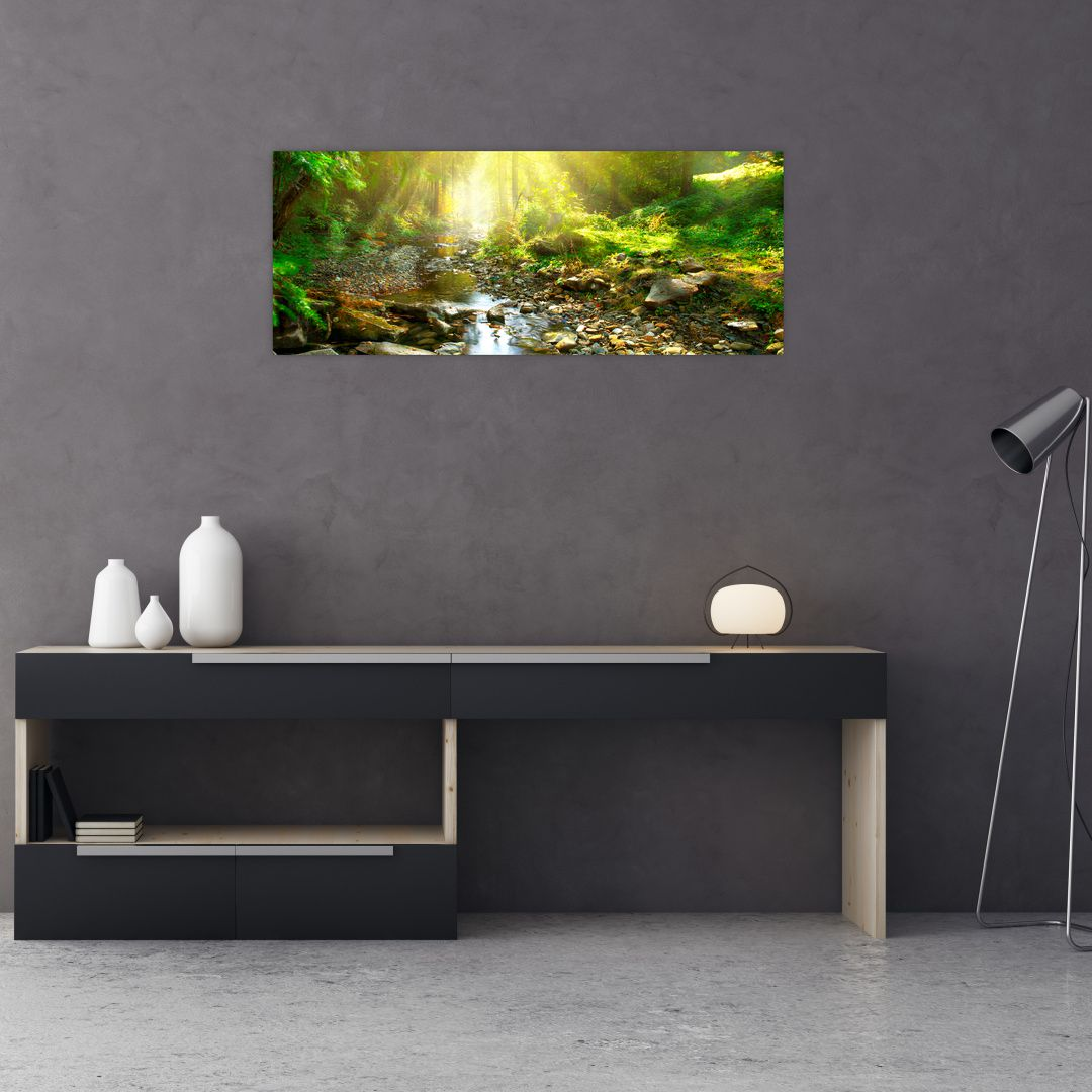 Slika rijeke u zelenoj šumi (V020942V10040)