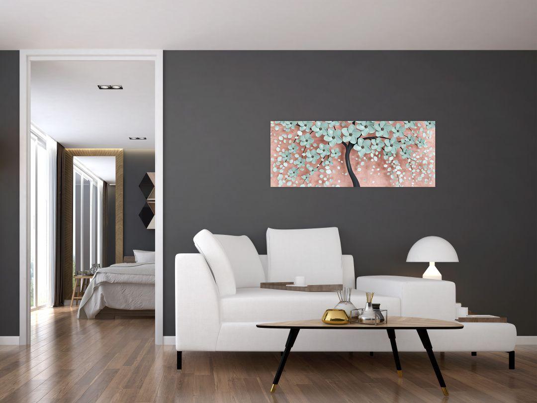 Obraz - Pastelově modré květy (V021459V10040)