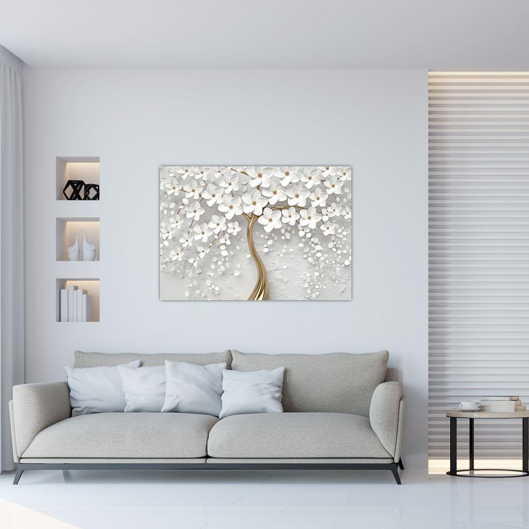 Slika bijelog stabla s cvijećem (V020977V10070)