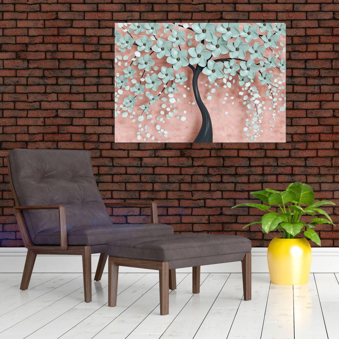 Obraz - Pastelově modré květy (V021459V10070)