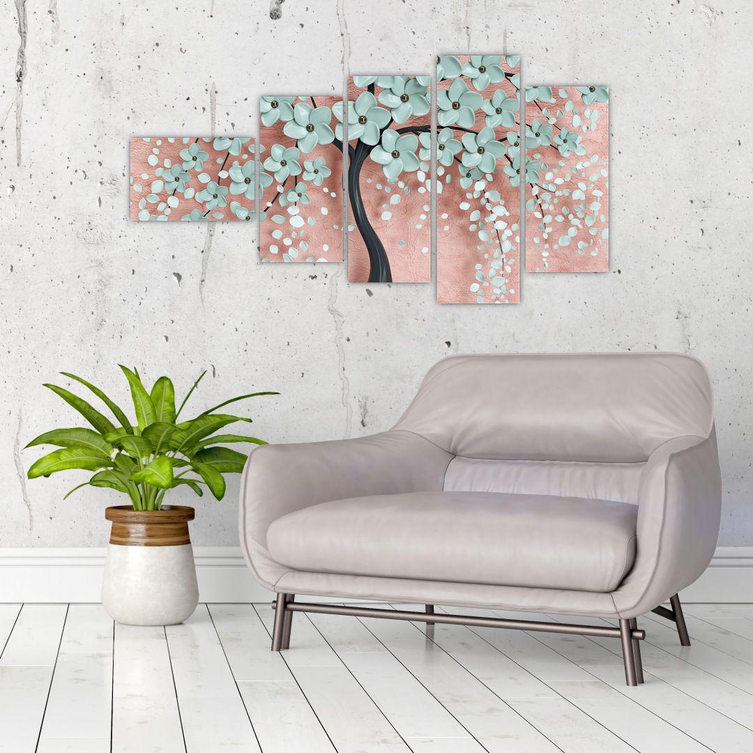 Obraz - Pastelově modré květy (V021459V11060)