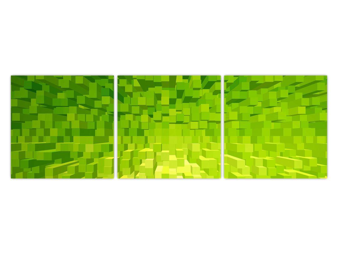Obraz žlutozelených kostiček (V020057V12040)