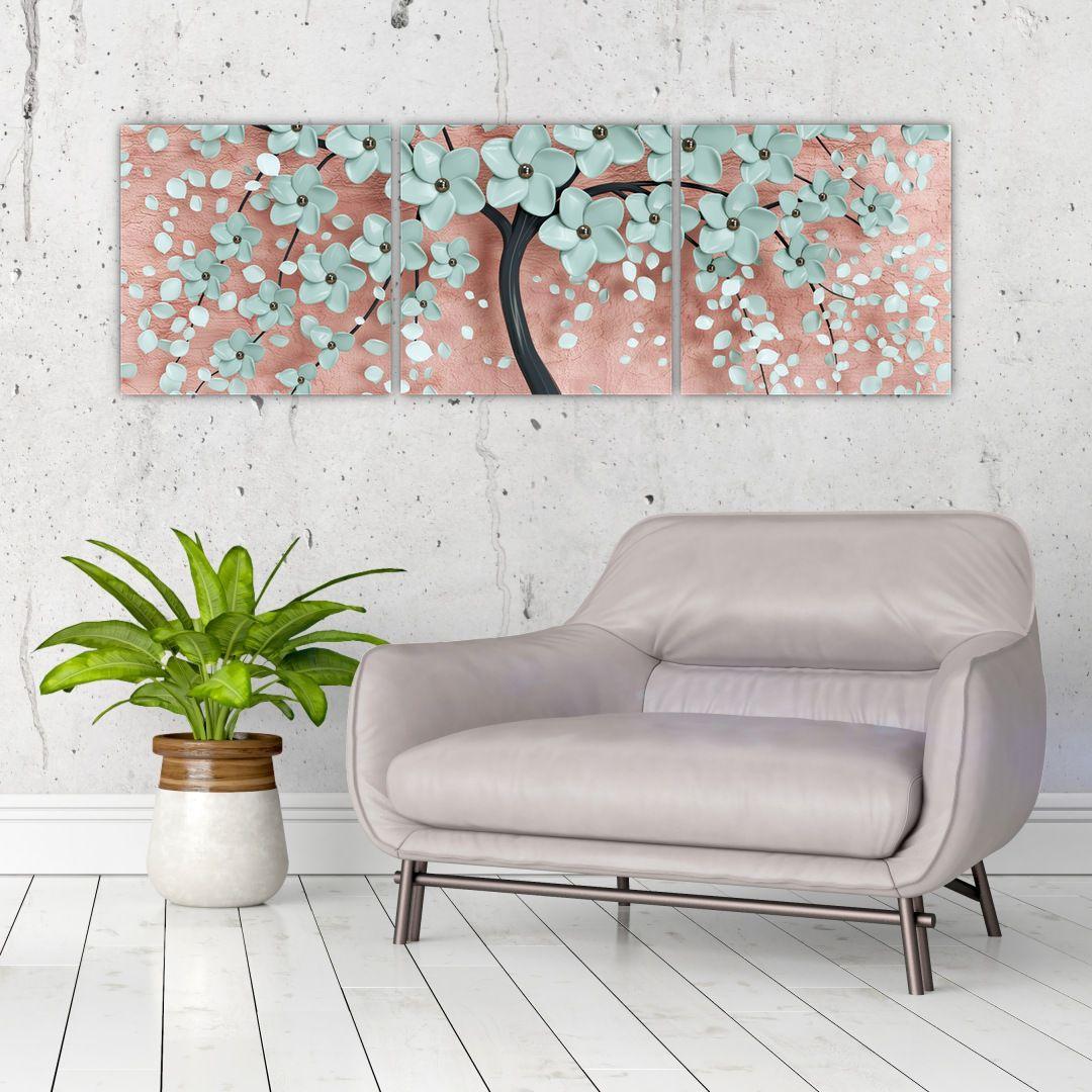 Obraz - Pastelově modré květy (V021459V12040)