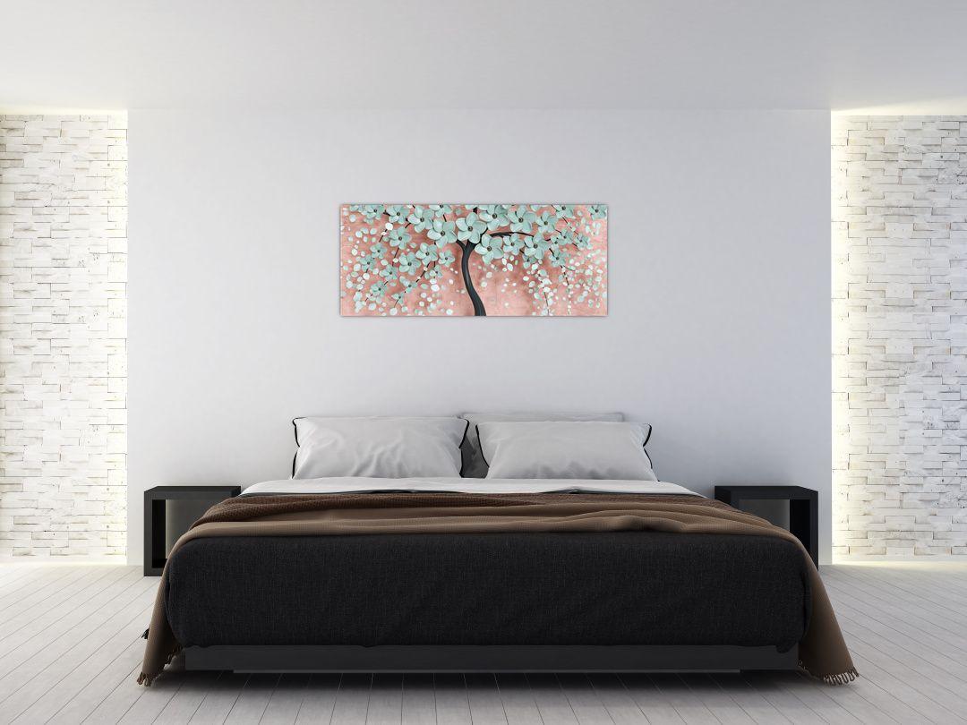 Obraz - Pastelově modré květy (V021459V12050)