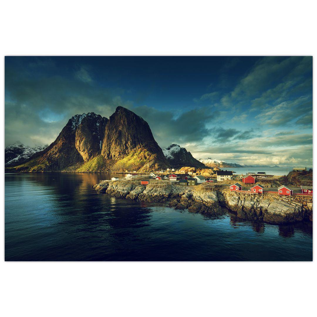 Obraz rybářské vesnice v Norsku (V021280V12080)
