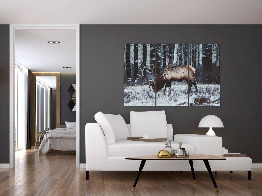 Obraz - jeleň v zime (V020179V120803PCS)