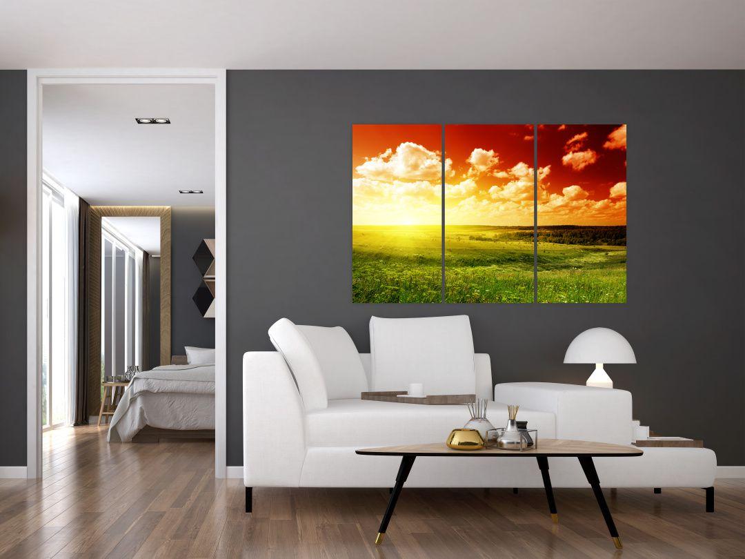Obraz louky se zářícím sluncem (V021174V120803PCS)