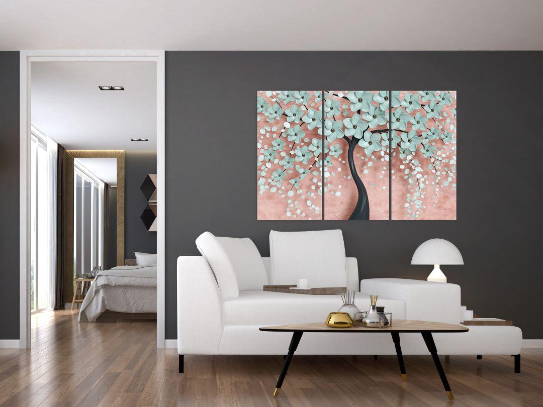 Obraz - Pastelově modré květy (V021459V120803PCS)