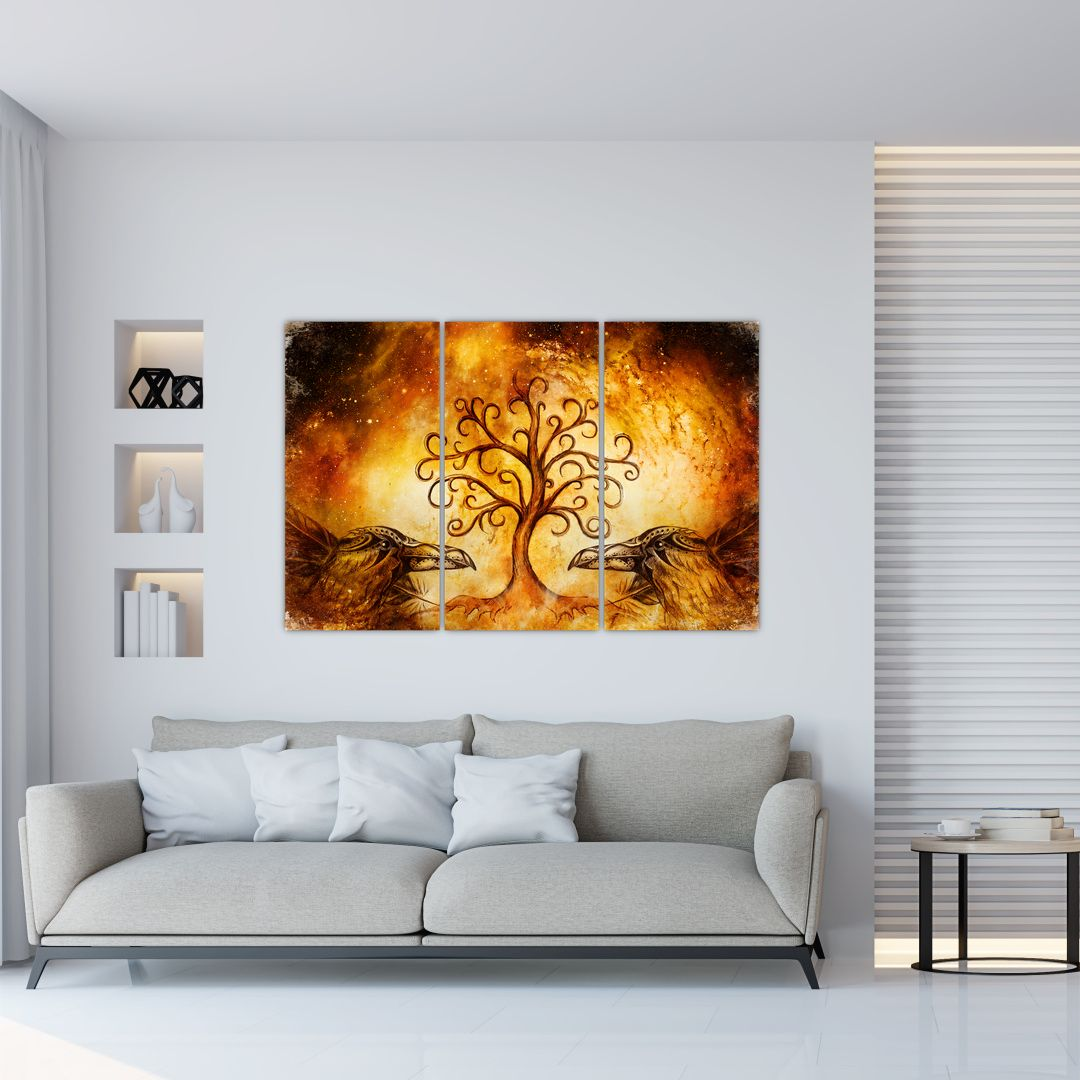 Tablou natural abstract cu copac (V022111V120803PCS)