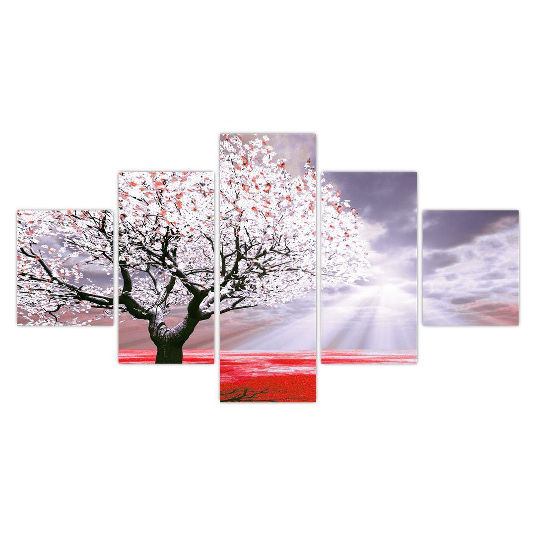 Červený obraz stromu (V020052V12570)