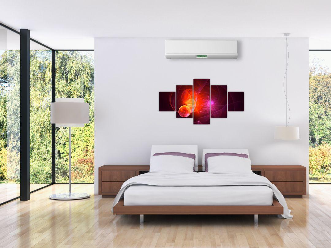 Moderní obraz růžové abstrakce (V020129V12570)