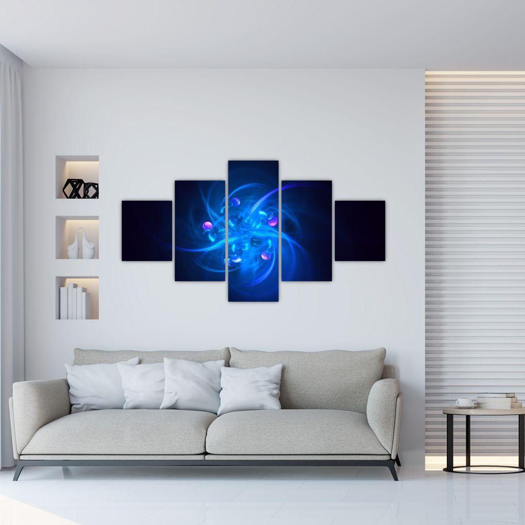 Moderní obraz modré abstrakce (V020137V12570)
