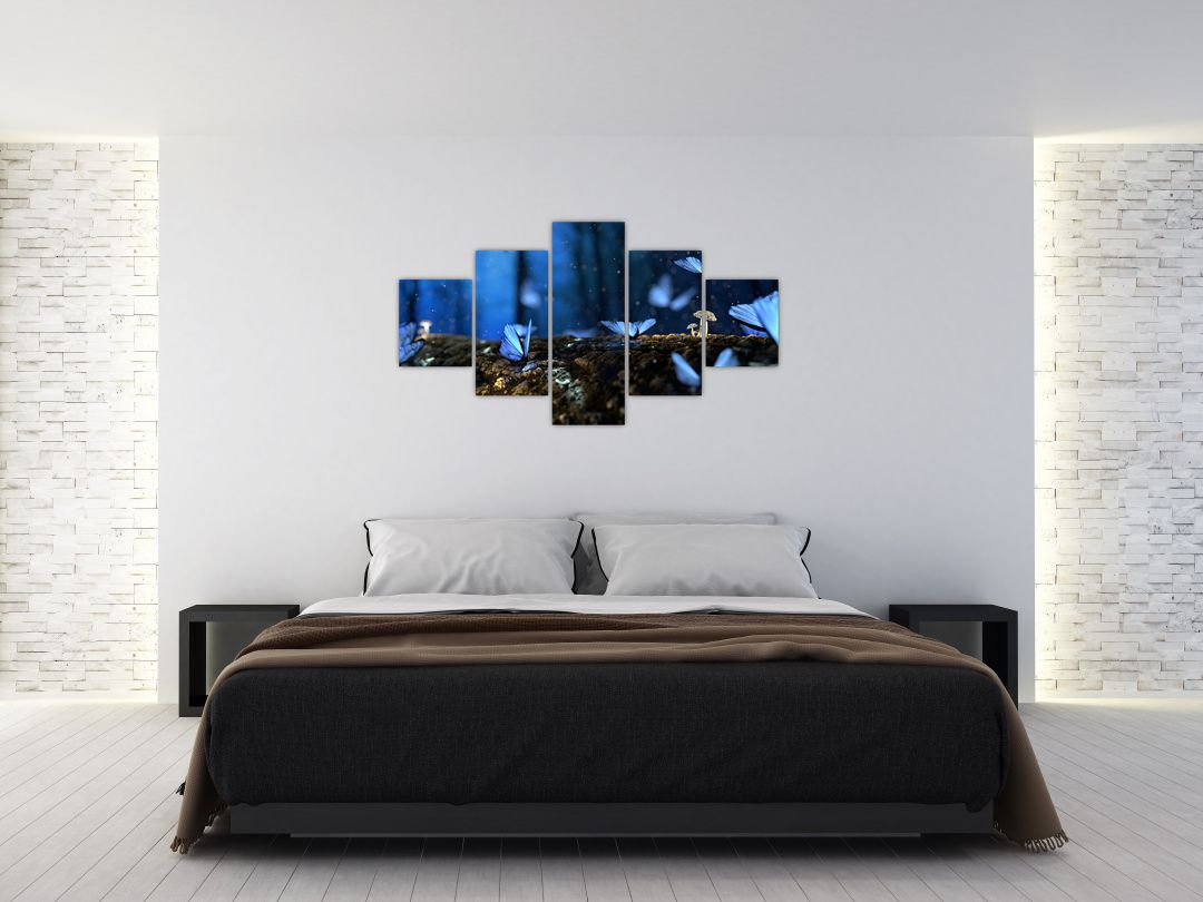 Obraz modrých motýlů (V020434V12570)
