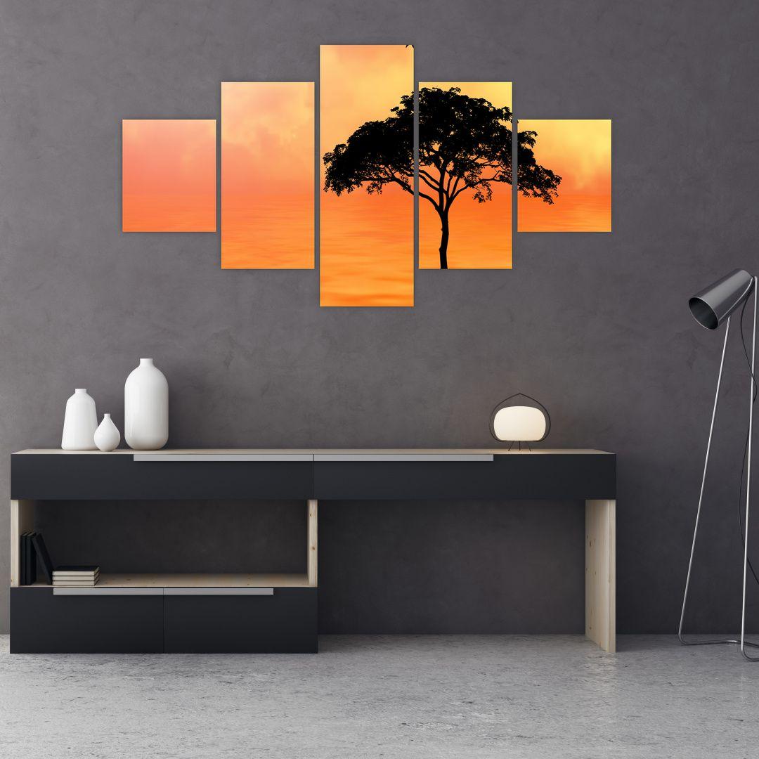 Obraz stromu v západu slunce (V020480V12570)