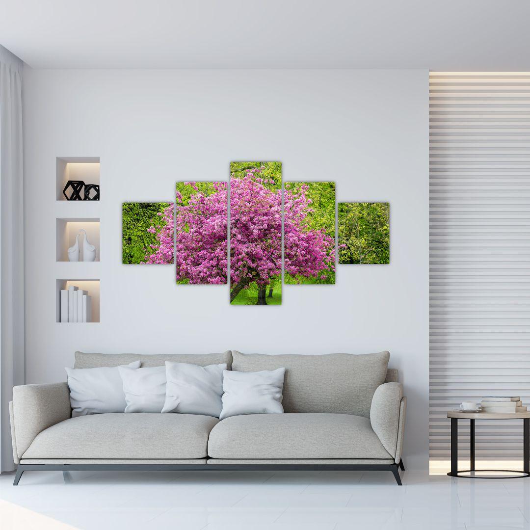 Obraz rozkvetlého stromu na louce (V020654V12570)