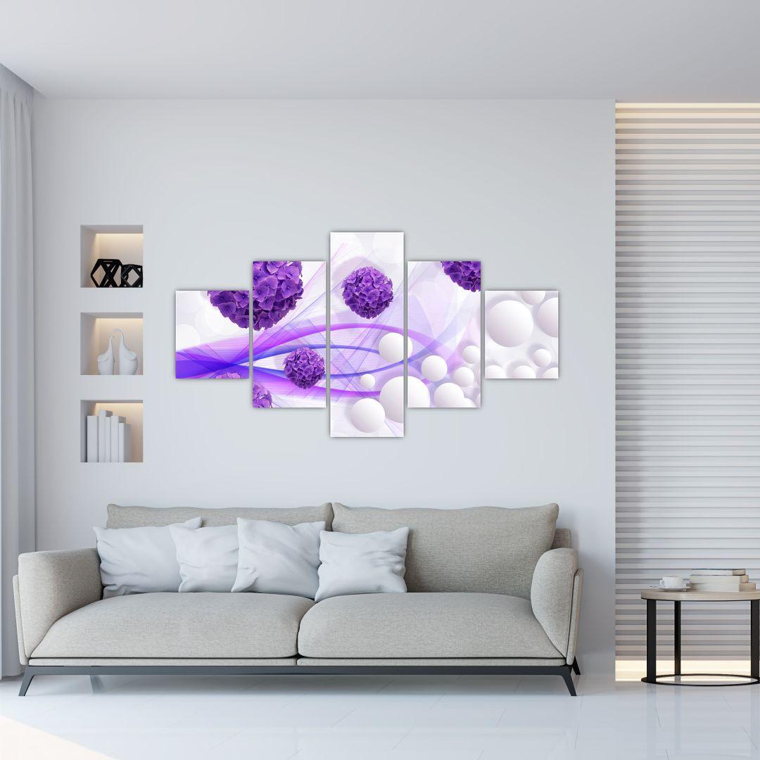 Obraz - Koule, kuličky, květy, ... (V021304V12570)