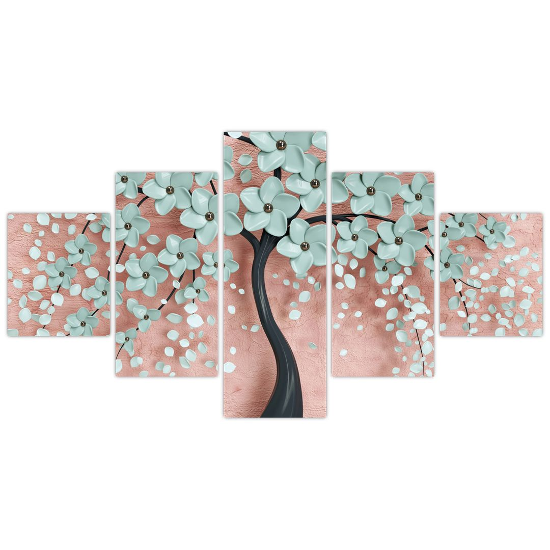 Obraz - Pastelově modré květy (V021459V12570)
