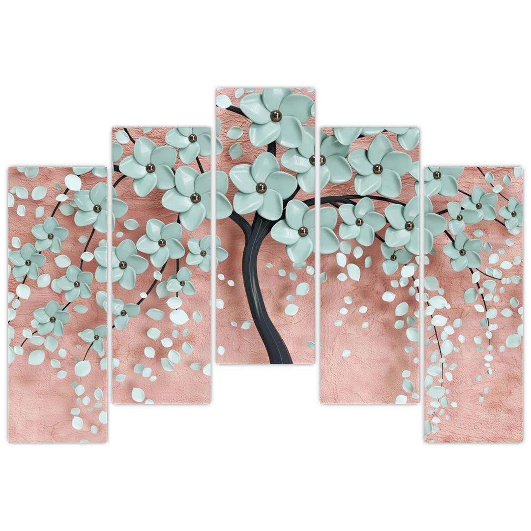 Obraz - Pastelově modré květy (V021459V12590)