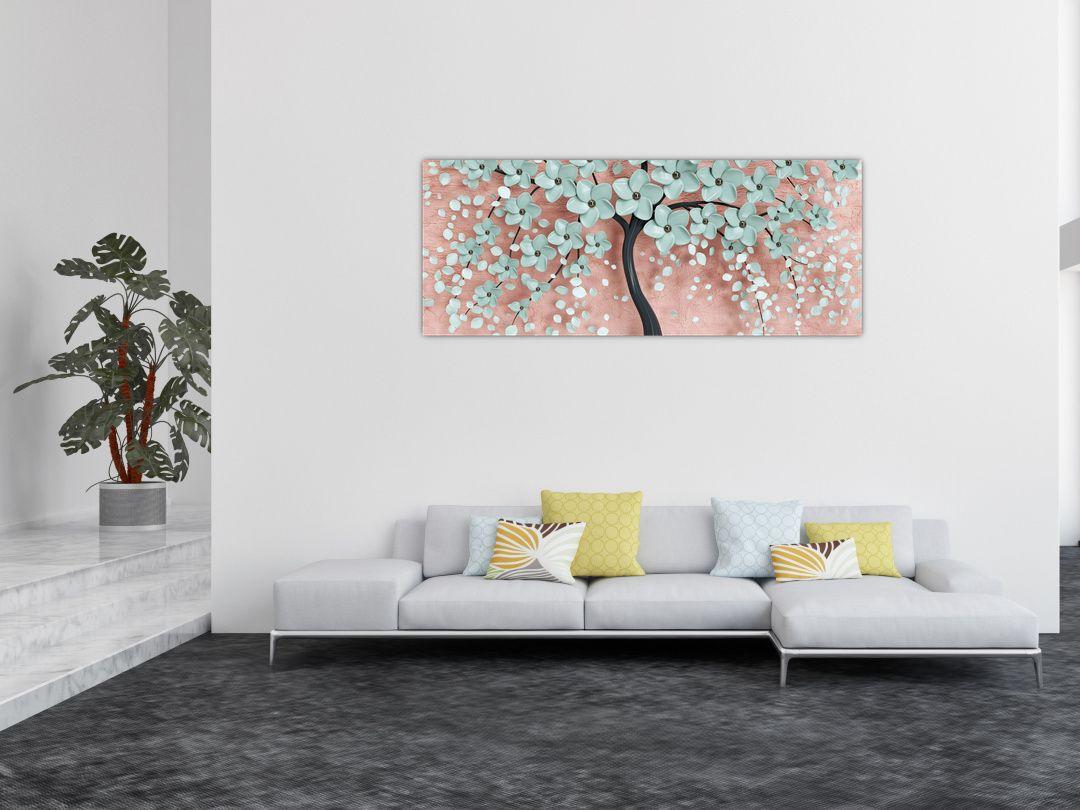 Obraz - Pastelově modré květy (V021459V14558)