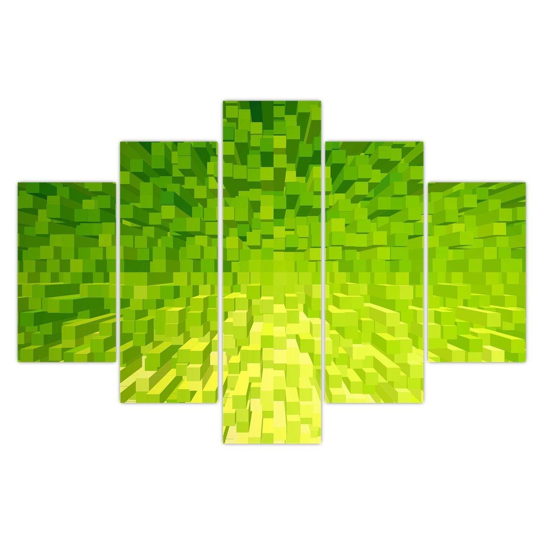 Obraz žlutozelených kostiček (V020057V150105)