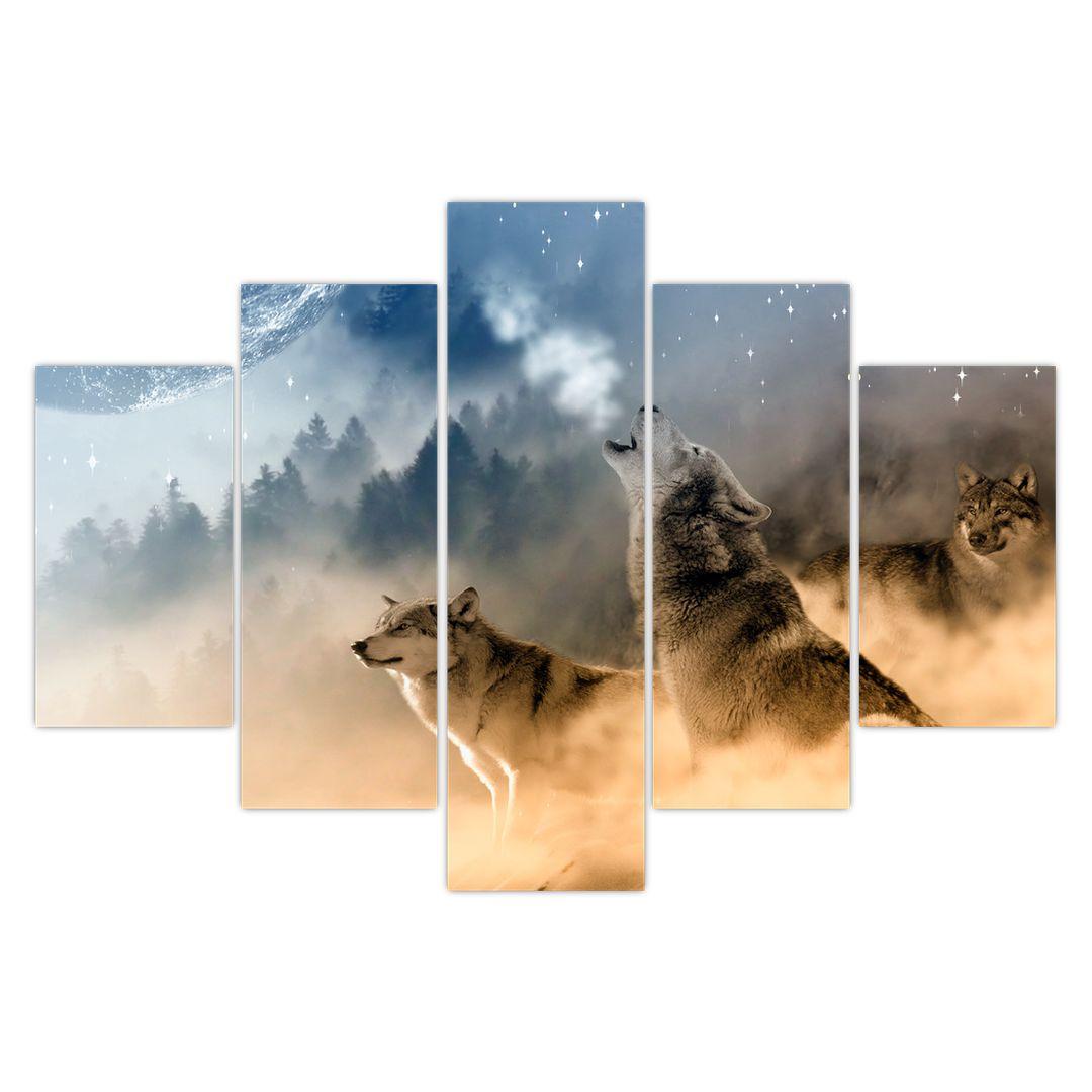Slika - vukovi zavijaju na mjesec (V020509V150105)