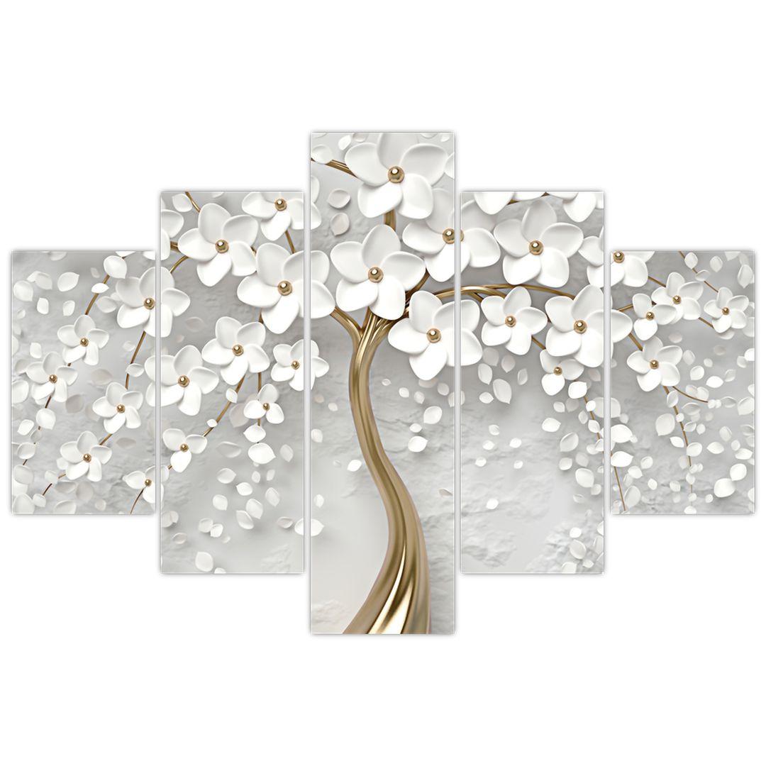 Slika bijelog stabla s cvijećem (V020977V150105)