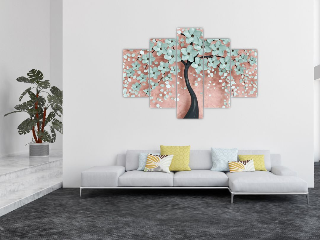 Obraz - Pastelově modré květy (V021459V150105)