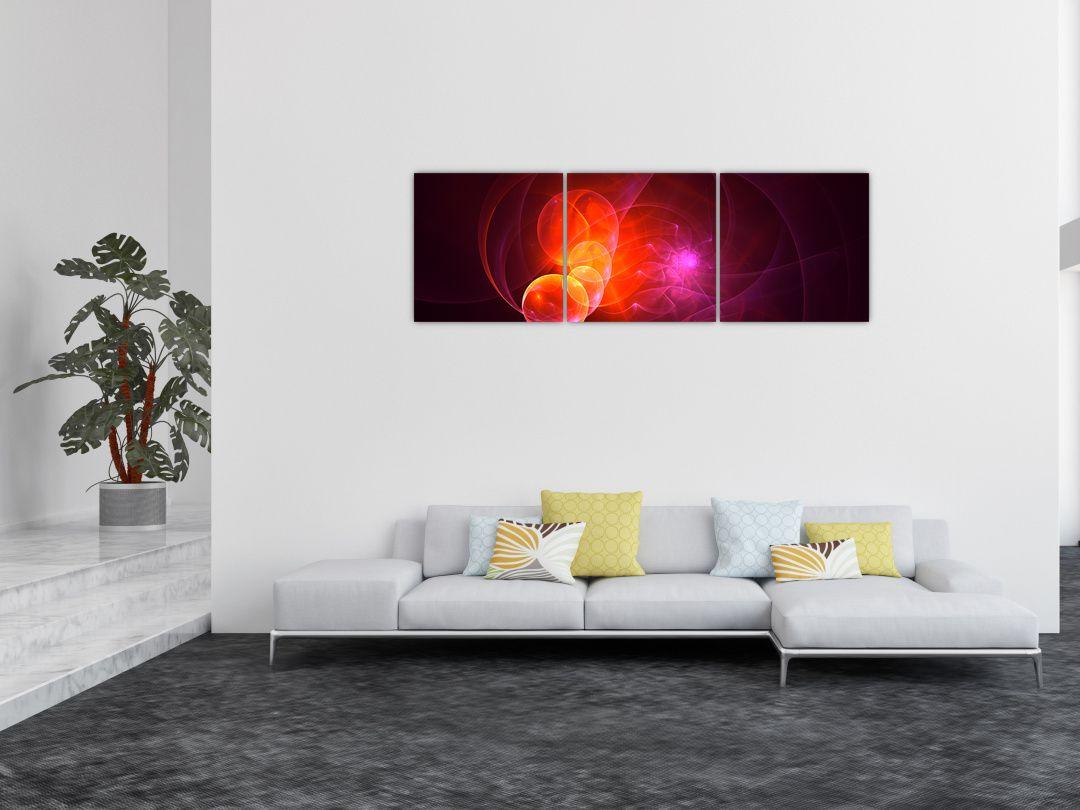 Moderní obraz růžové abstrakce (V020129V15050)