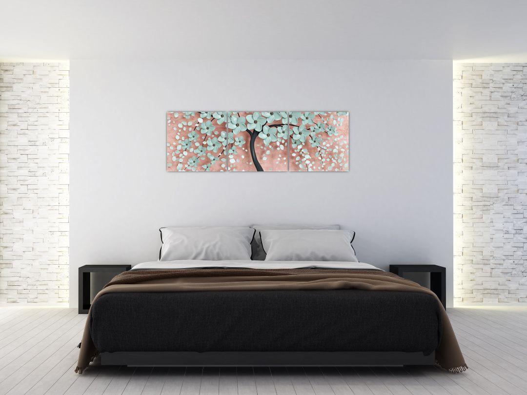 Obraz - Pastelově modré květy (V021459V15050)