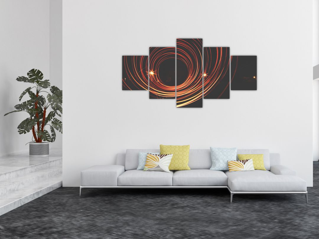 Obraz abstraktních linek (V020030V150805PCS)