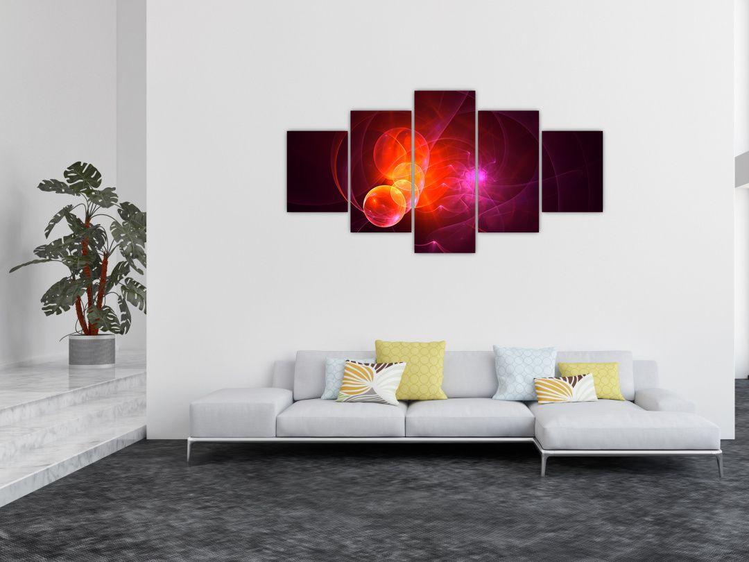 Moderní obraz růžové abstrakce (V020129V150805PCS)