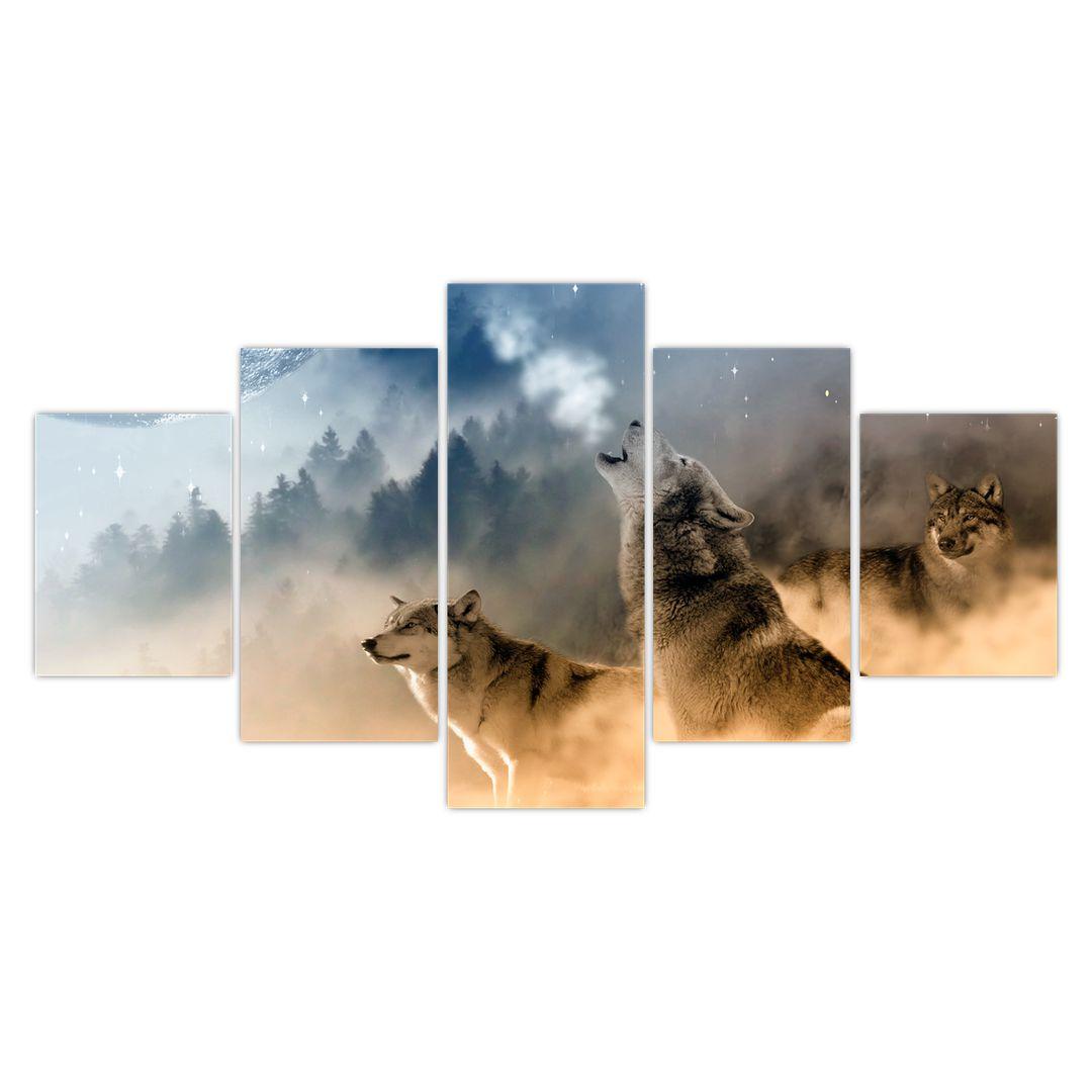 Slika - vukovi zavijaju na mjesec (V020509V150805PCS)