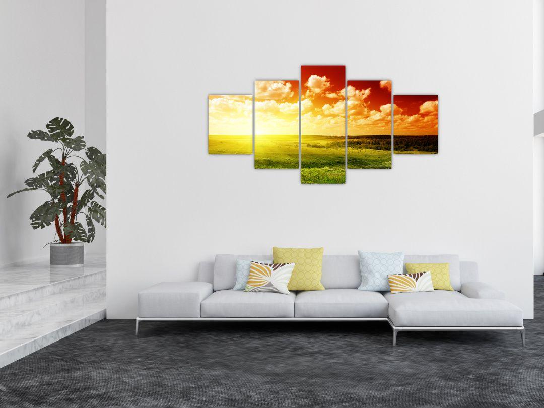 Obraz louky se zářícím sluncem (V021174V150805PCS)