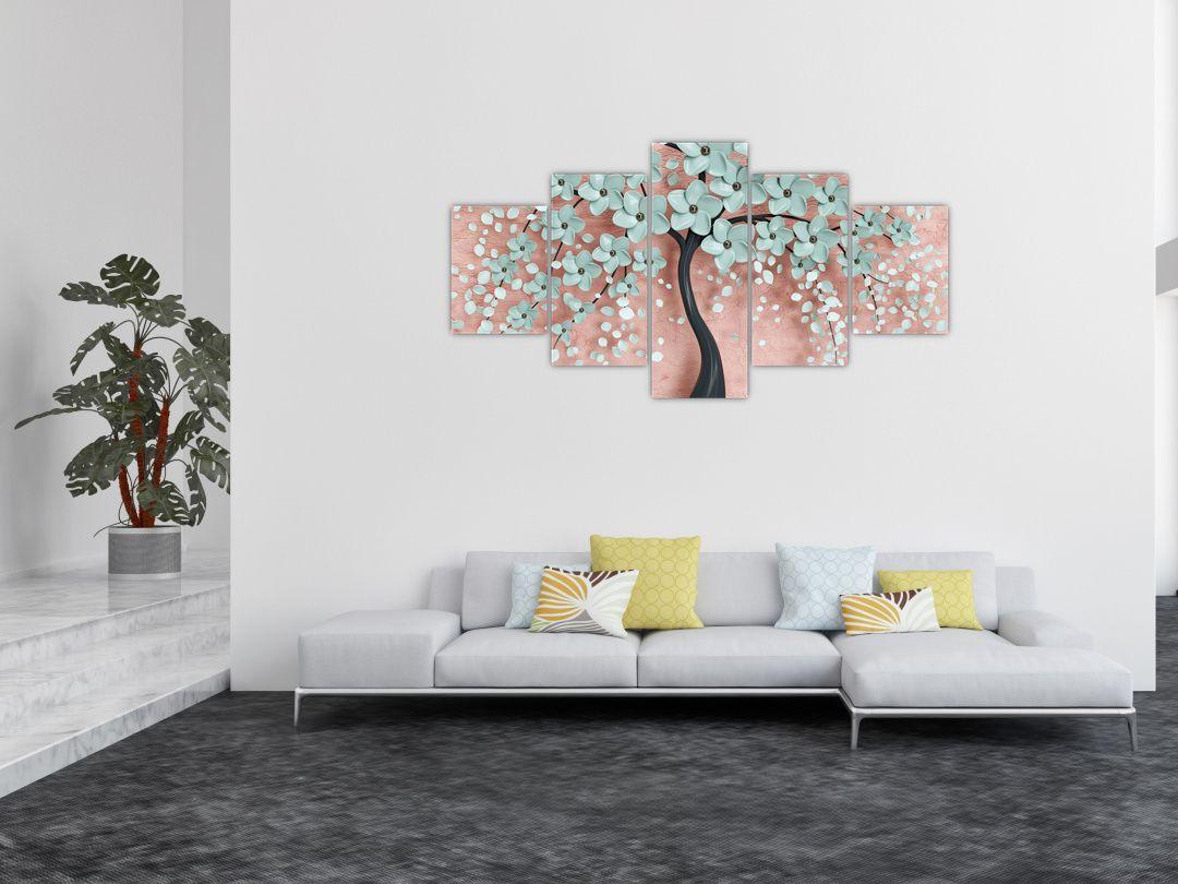Obraz - Pastelově modré květy (V021459V150805PCS)
