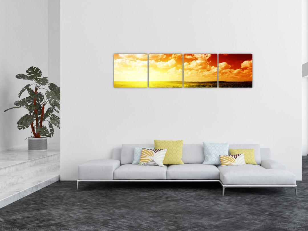 Obraz louky se zářícím sluncem (V021174V16040)
