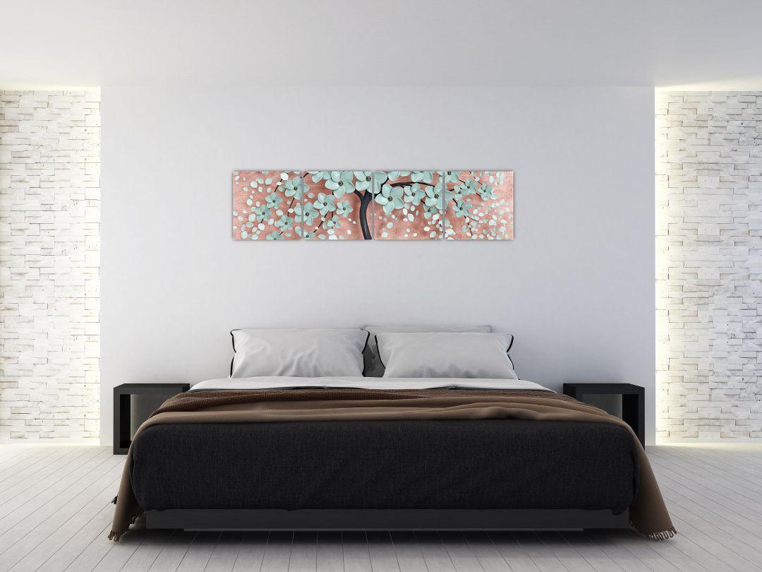 Obraz - Pastelově modré květy (V021459V16040)