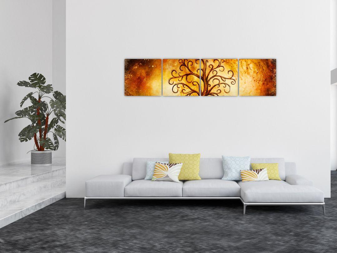 Tablou natural abstract cu copac (V022111V16040)