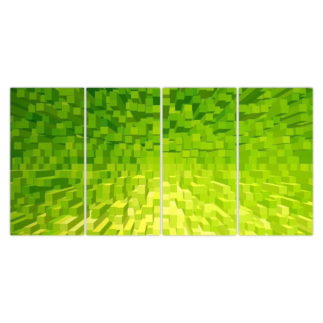 Obraz žlutozelených kostiček (V020057V16080)