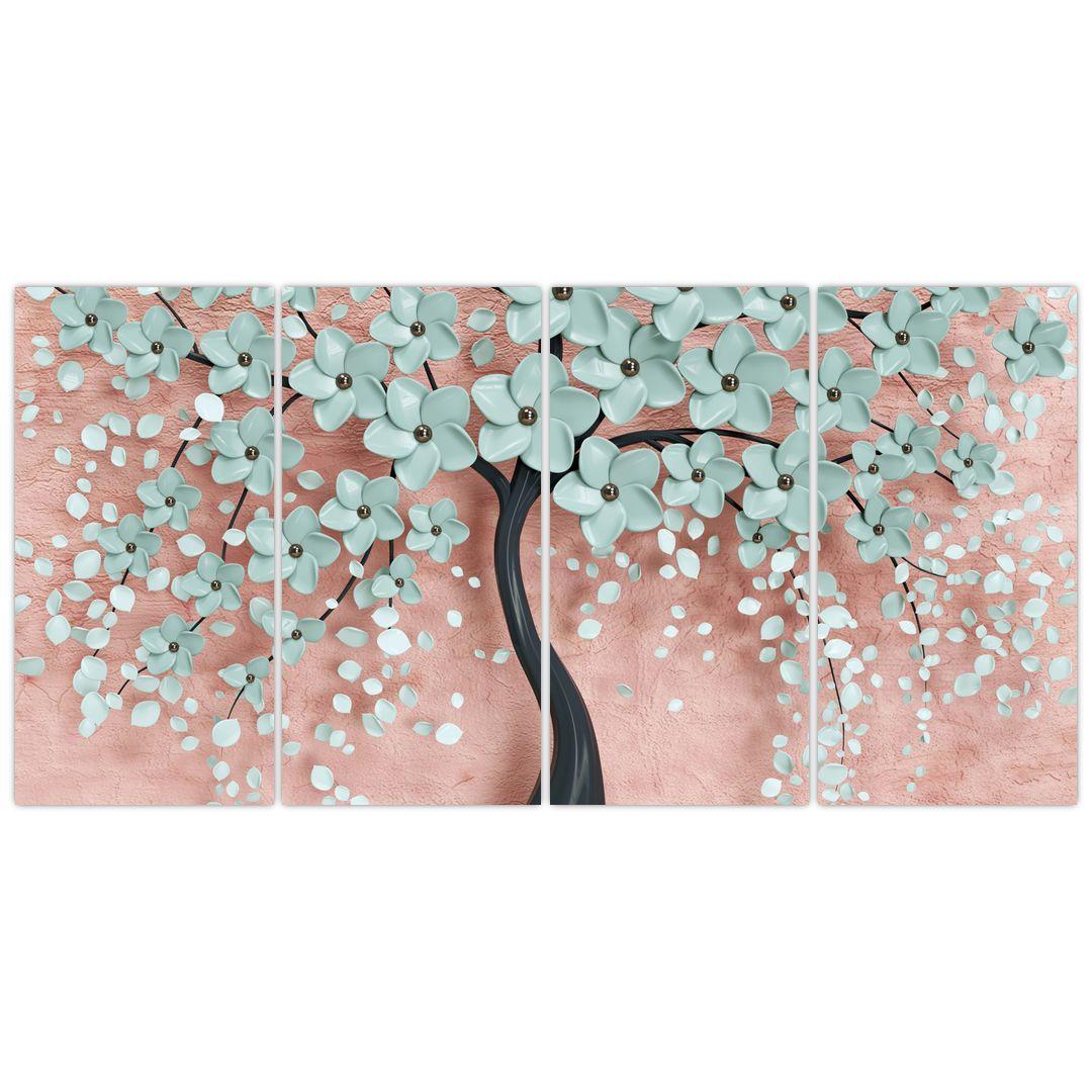 Obraz - Pastelově modré květy (V021459V16080)