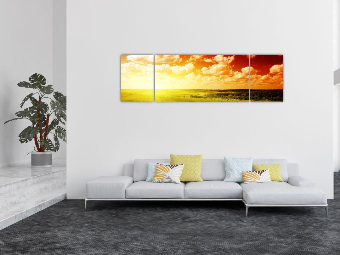 Obraz louky se zářícím sluncem (V021174V17050)