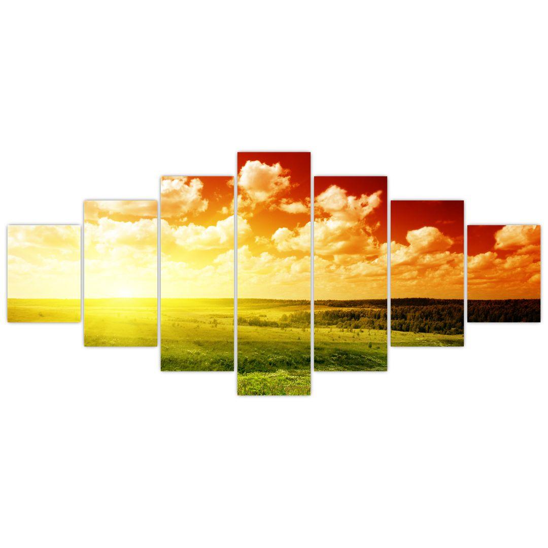 Obraz louky se zářícím sluncem (V021174V210100)