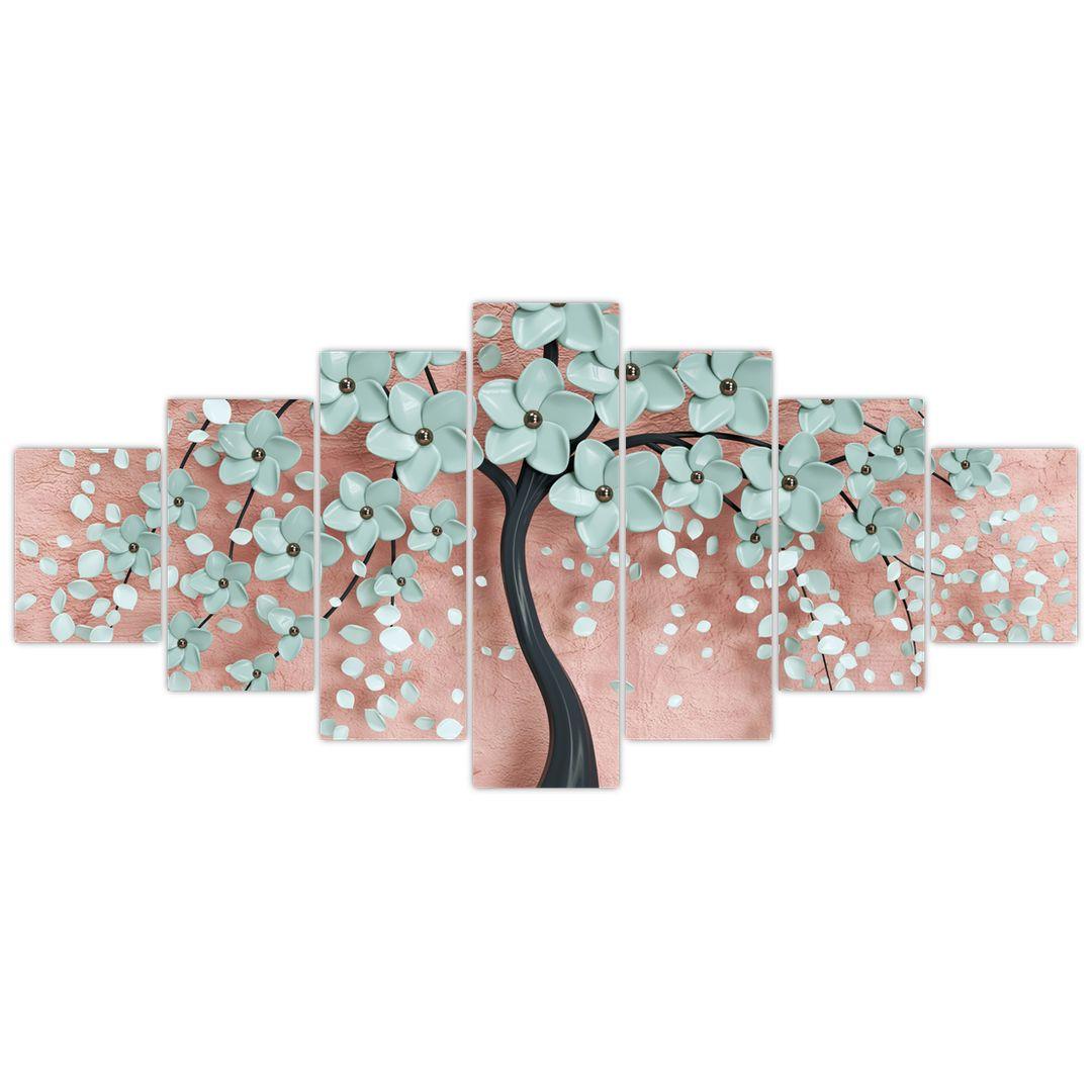 Obraz - Pastelově modré květy (V021459V210100)