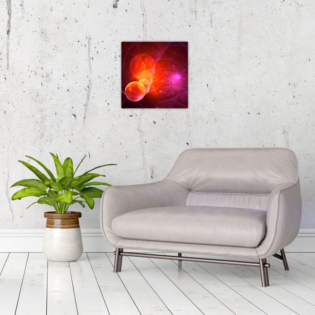 Moderní obraz růžové abstrakce (V020129V3030)