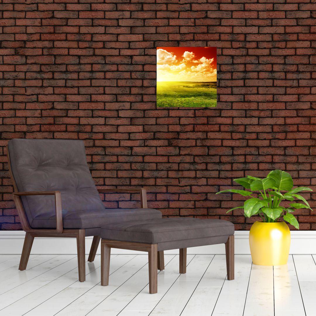 Obraz louky se zářícím sluncem (V021174V3030)