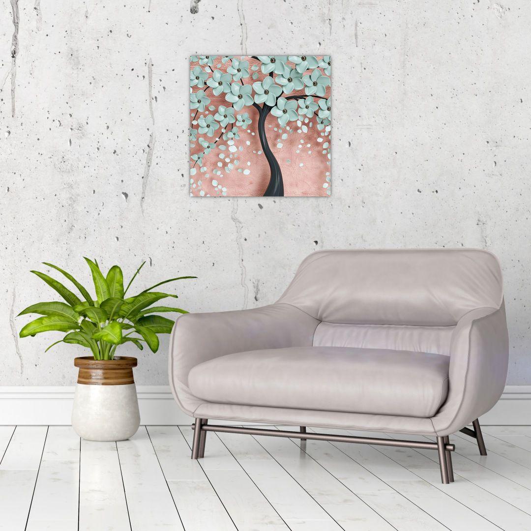 Obraz - Pastelově modré květy (V021459V4040)