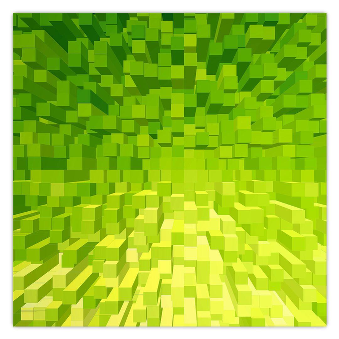 Obraz žlutozelených kostiček (V020057V5050)