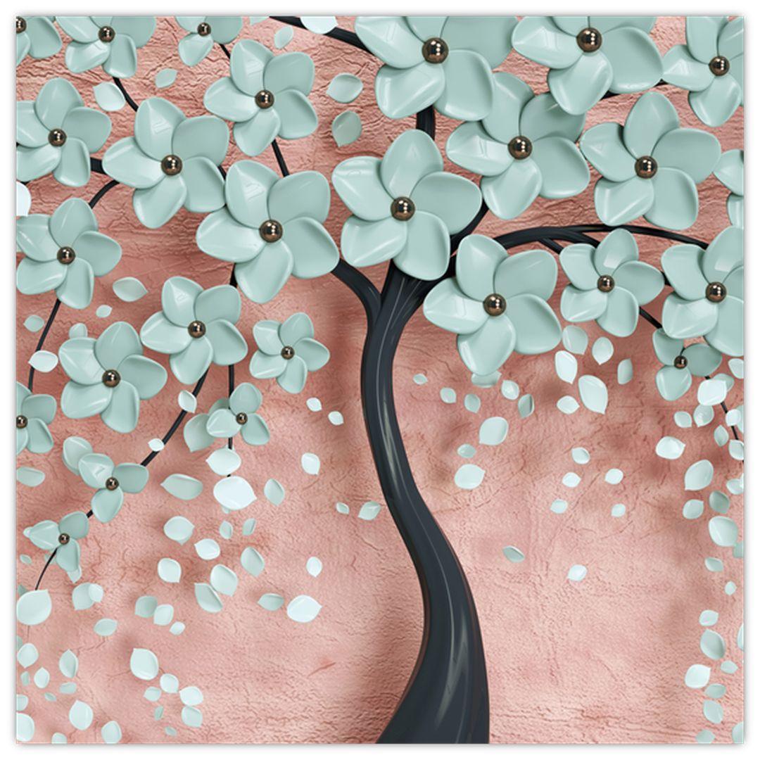 Obraz - Pastelově modré květy (V021459V5050)