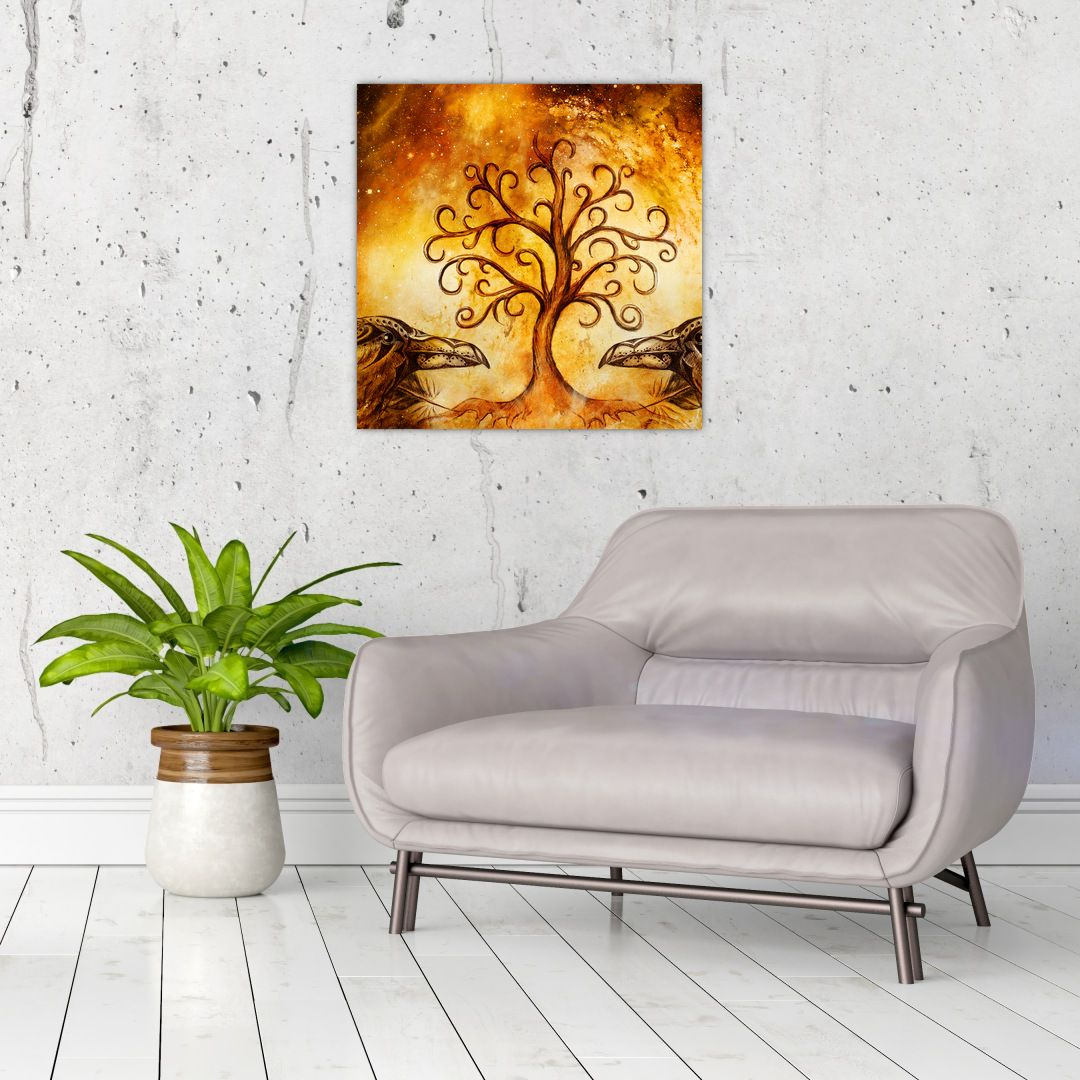 Tablou natural abstract cu copac (V022111V5050)