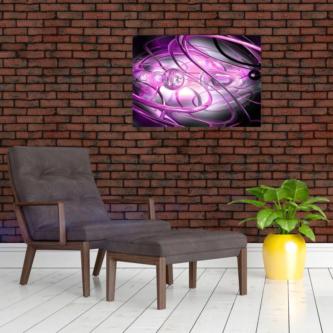 Obraz krásné fialové abstrakce (V020060V7050)