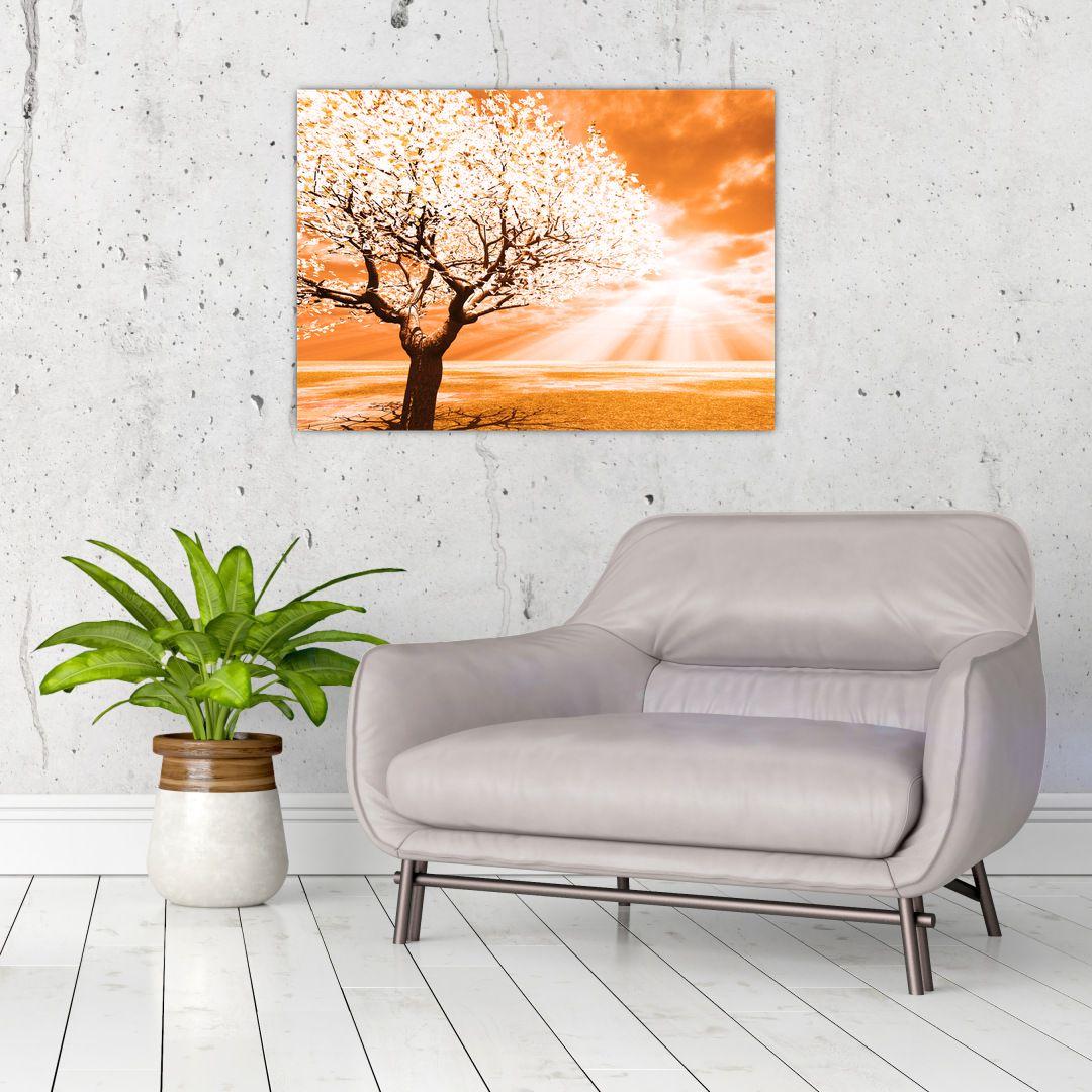 Oranžový obraz stromu (V020095V7050)